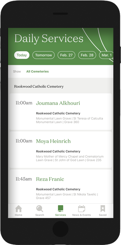 Access Daily Service from the App